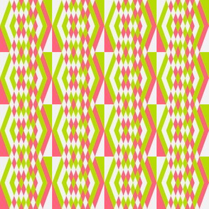 Diamond Stripes in Squares 1
