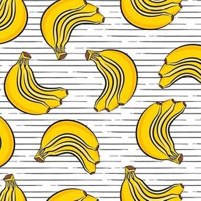 bananas - bunch of bananas - stripes - LAD19