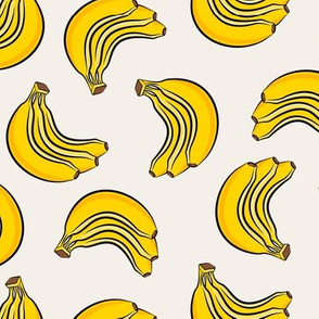 bananas - bunch of bananas - cream - LAD19