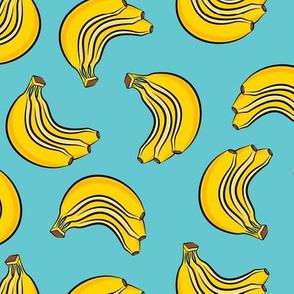 bananas - bunch of bananas - blue - LAD19