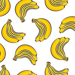 bananas - bunch of bananas - white - LAD19