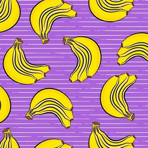 bananas - bunch of bananas - purple stripes  - LAD19
