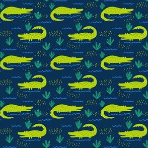 Gators on Blue, Small