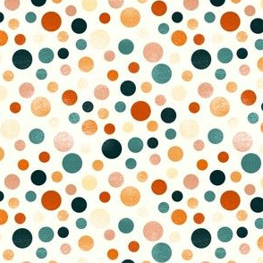 Whimsical Polka Dots - Orange, White - Coordinate