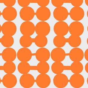 Dumbbell Dots_Ivory_Light Orange
