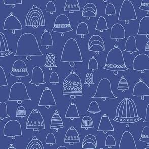 Doodle bells dark blue