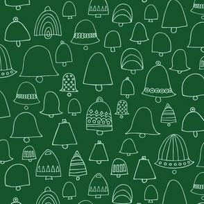 Doodle bells pine green