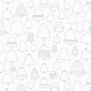 Doodle bells silver white