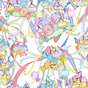 Faded Candy Chintz