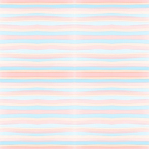 Pink and Blue Pastel Wavy Stripe Pattern