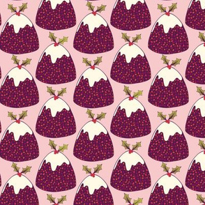 Christmas pudding in pink