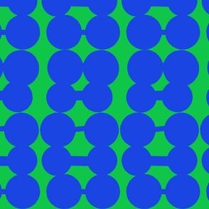 Dumbbell Dots_Kelly Green/Royal
