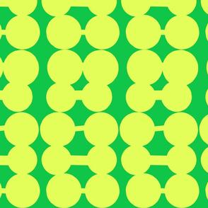 Dumbbell Dots_Kelly Green/Lemon Yellow