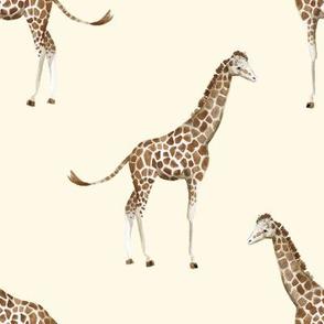 "8"" Giraffe Print Ivory Back"