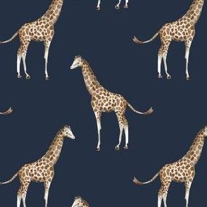"4"" Giraffe Print Navy Back"