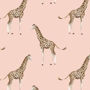 """4"""" Giraffe Print Peach"""