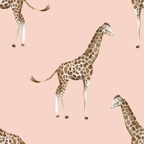 """8"""" Giraffe Print Peach"""