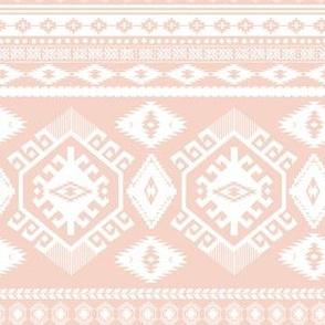 "6"" Peach and White Aztec Print"