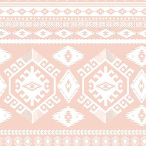 "18"" Peach and White Aztec Print"