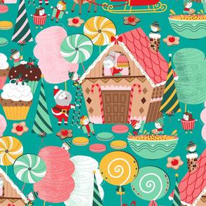 Santa Claus Gingerbread House