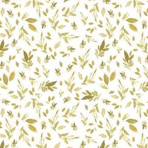 "4"" Serengeti Gold Branches White Back"