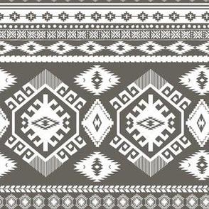 "6"" Tan Aztec Print"