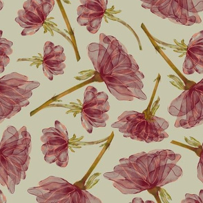 Watercolour Chintz Flower Stems