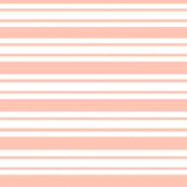 Peach & White Stripes