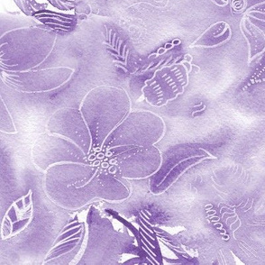 Tropical Purple Floral
