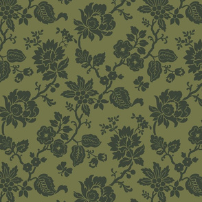 Fern Green Traditional Floral