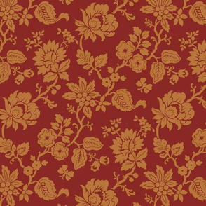 Rust and Gold Traditional Floral