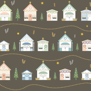 Christmas Beach Huts