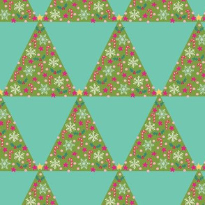 Triangle Christmas tree geo in duck egg blue