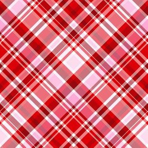 Valentine's Day Plaid red and pink