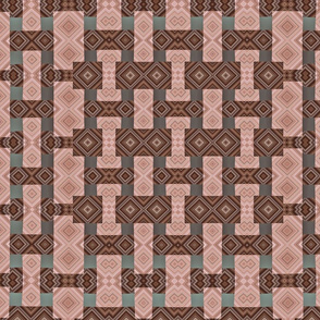 Warm neutral lattice