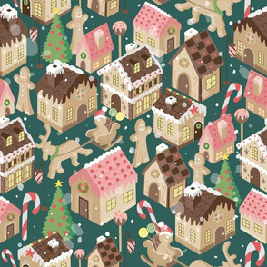 Gingerbread Town Green