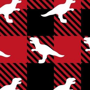 Buffalo Plaid Dinosaur T-Rex