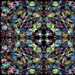 kaleidescope moody watercolor flowers