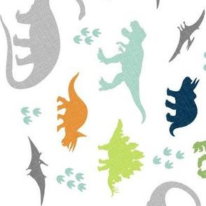 Linen Dinosaurs 90 Degrees