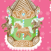 Gingerbread Carousel in Pink