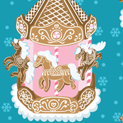 Gingerbread Carousel in Blue