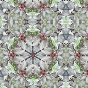 Silver Leaves Kaleidoscope