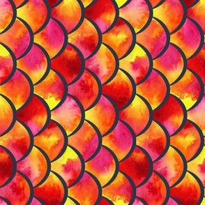 watercolor scales - lava (vertical)
