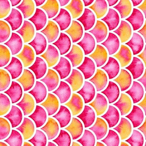 watercolor scales - pink/orange (vertical)