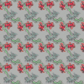 Abstract Flower- Pink Grey