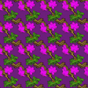 Abstract Flower- Purple Green Pink