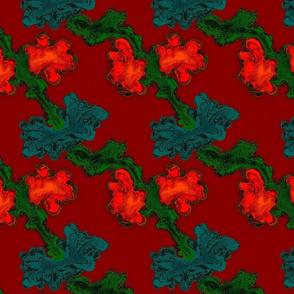Abstract Flower- Red_ Green_ Blue