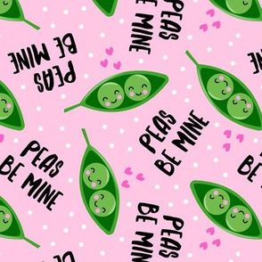 peas be mine - valentines cute peas in a pod - pink - LAD19