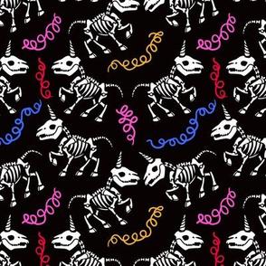 Unicorn skeleton at the party