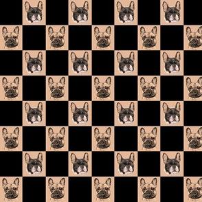 Custom French Bulldog Checkerboard